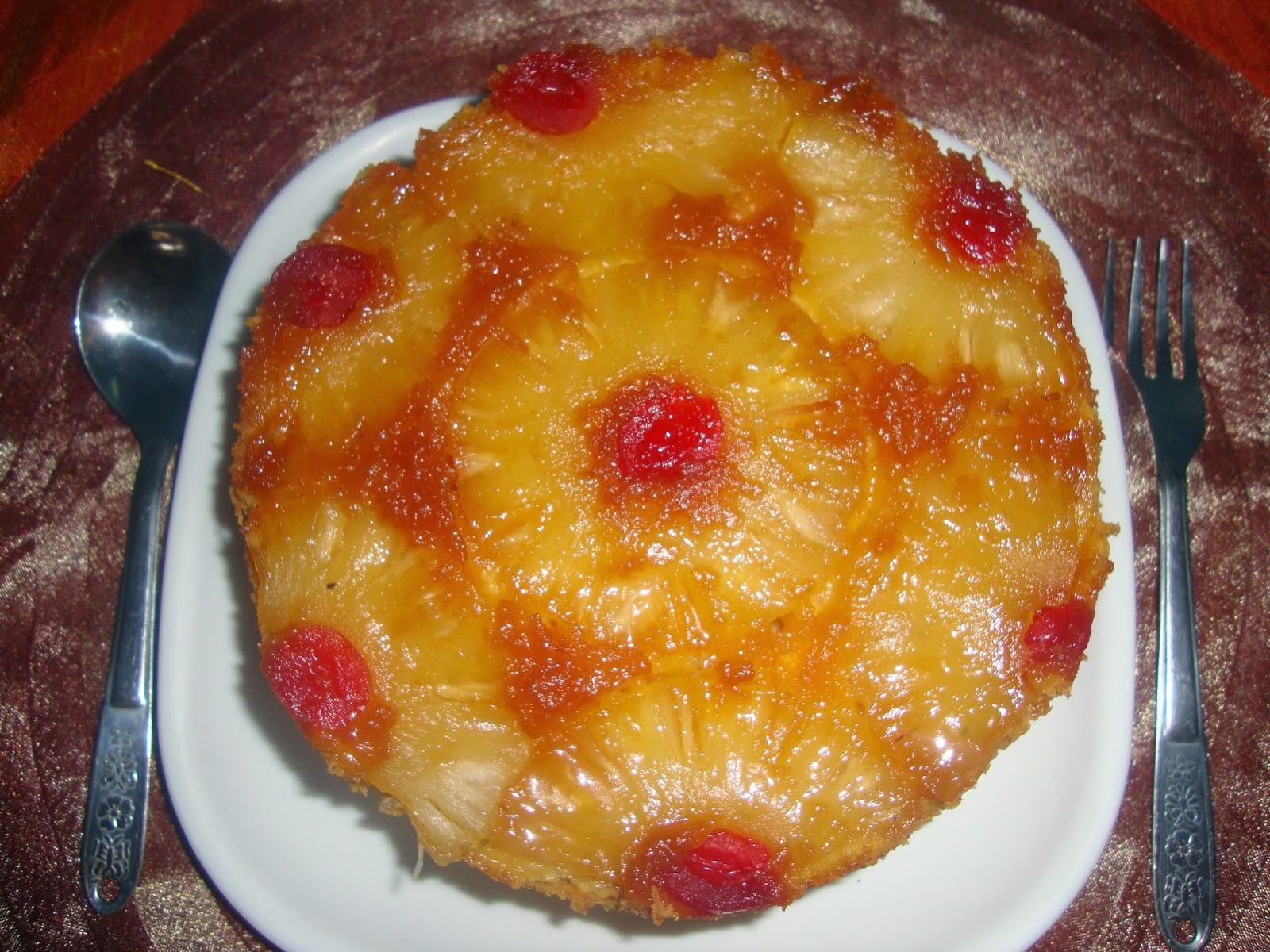 Simple Yet Tasteful Pineapple Upside-Down Cake