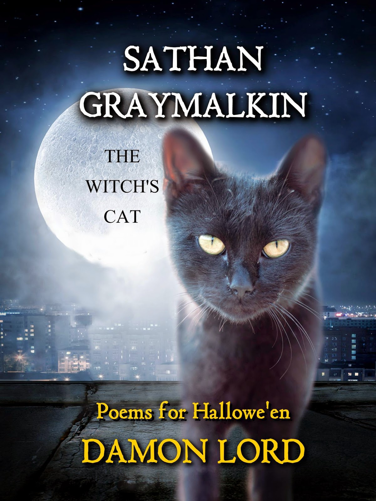 Sathan Graymalkin the witch's cat book cover