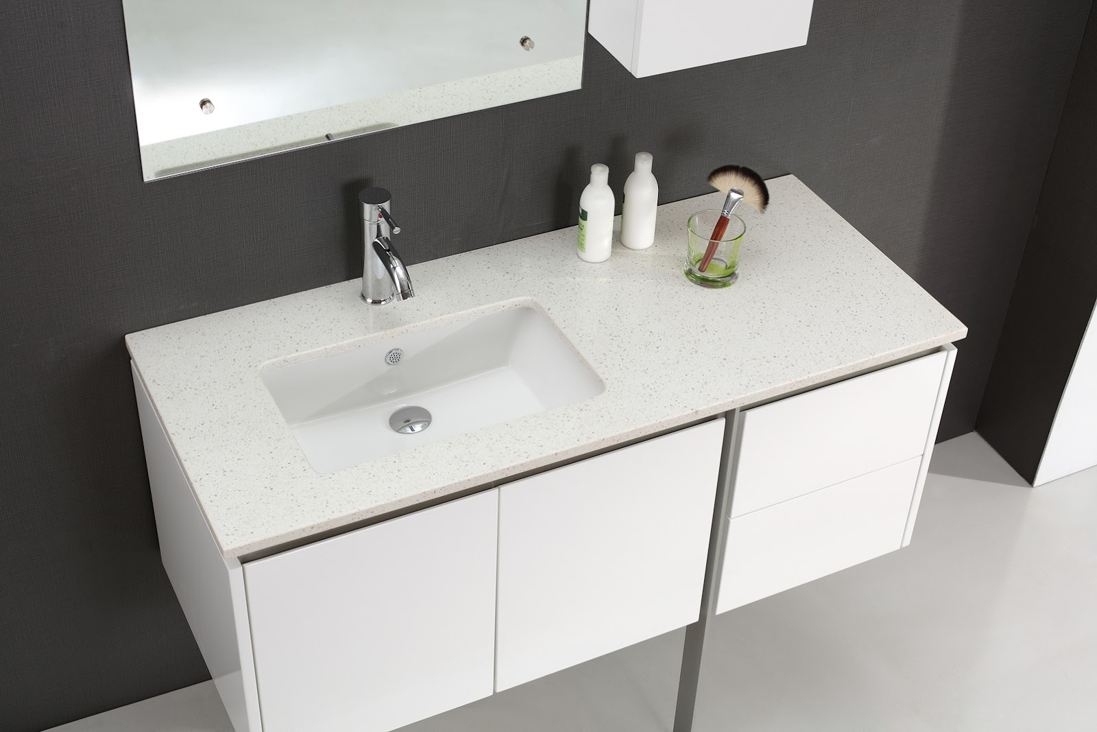 Modern Vanity Tops : Merida mm luxury white vanity for modern bathrooms