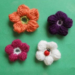 crochet 5 petals flower
