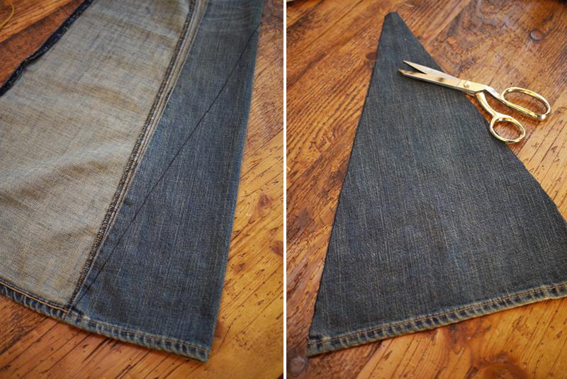 Как из джинсов сделать клеш 165