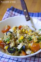 (salatka z komosy ryzowej i tofu