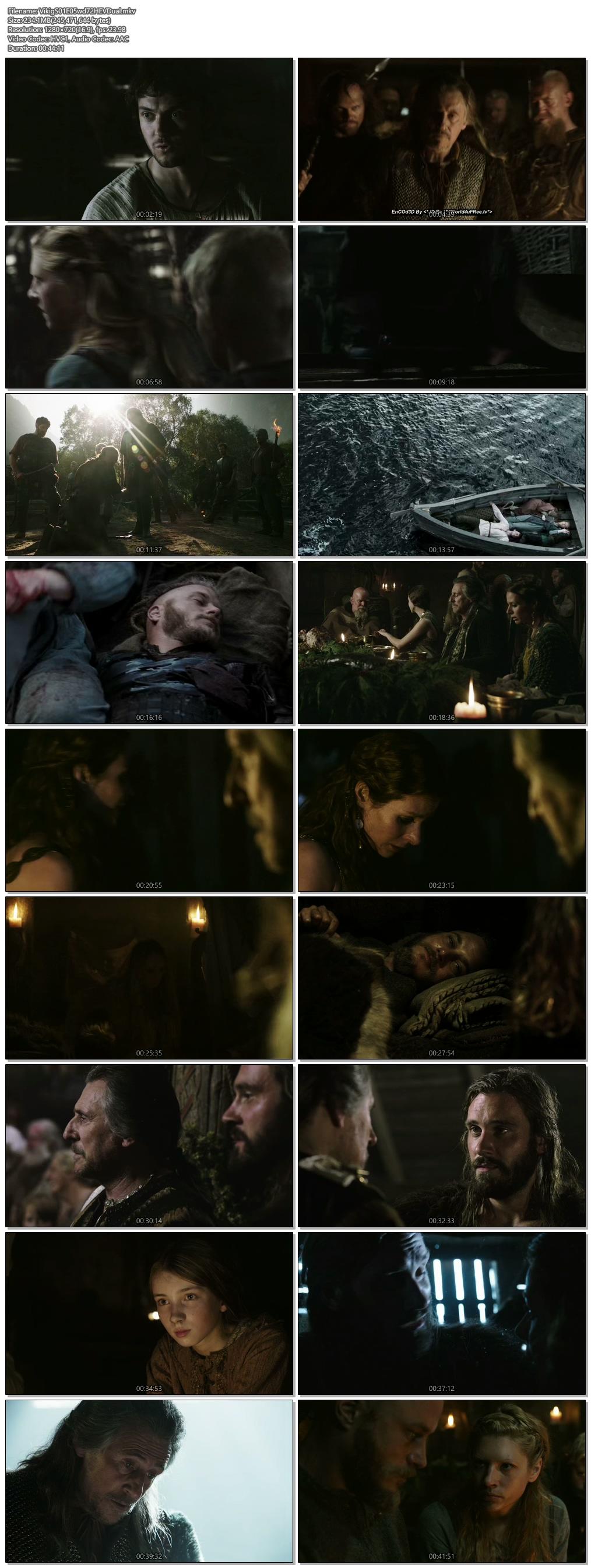 Screenshots Of Hindi Dubbed Show Vikings 2013 Season 01 Episode 05 300MB 720P HD