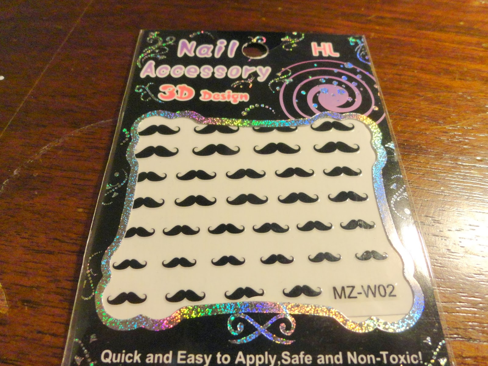 Clothes & Dreams: Ebay nail art shoplog: moustache nail stickers