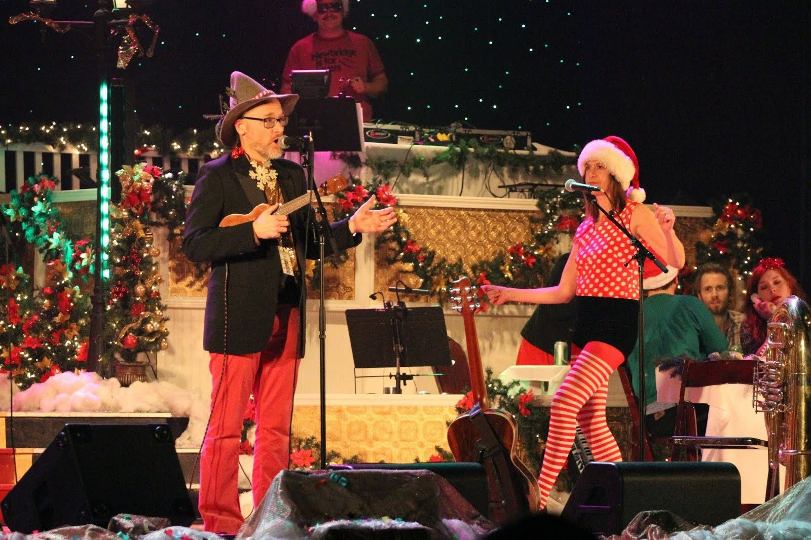 On stage at the Charleston Music Hall--Christmas Show, 2013