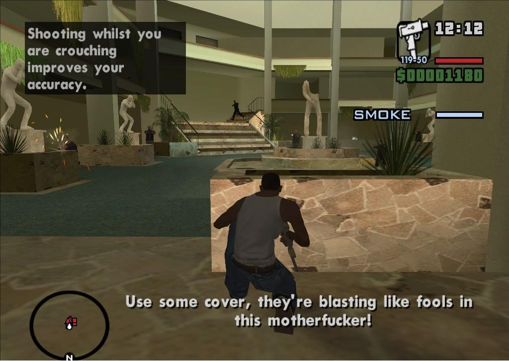 how to skip mission in san andreas