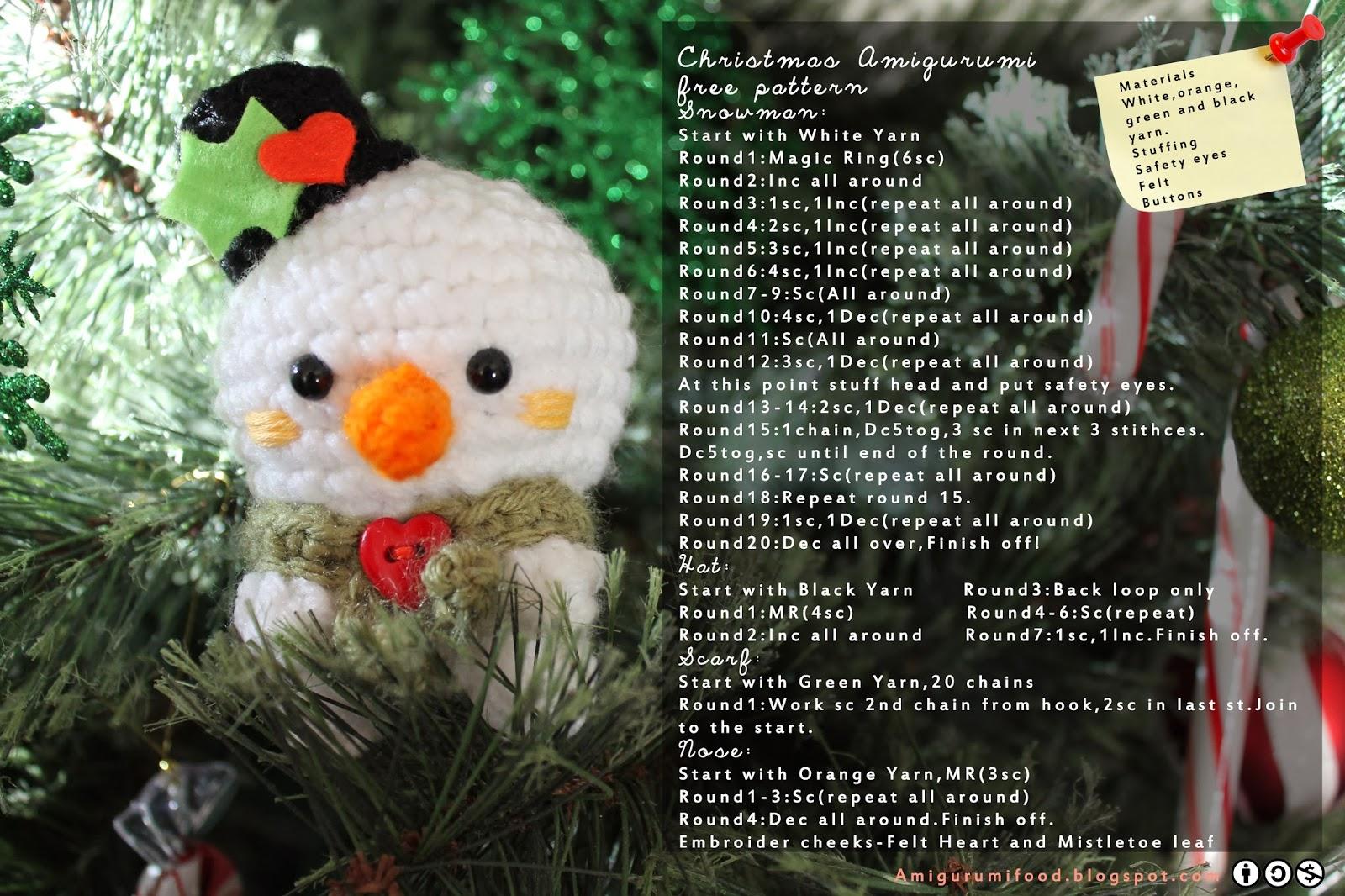 Free Holiday Amigurumi Patterns : Amigurumi Food: Christmas Amigurumi Free Pattern!
