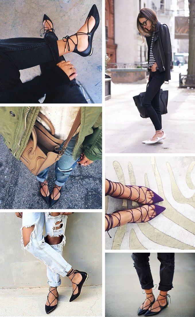 lace up flats, aquazurra, fashion trends, inspiration, blogger