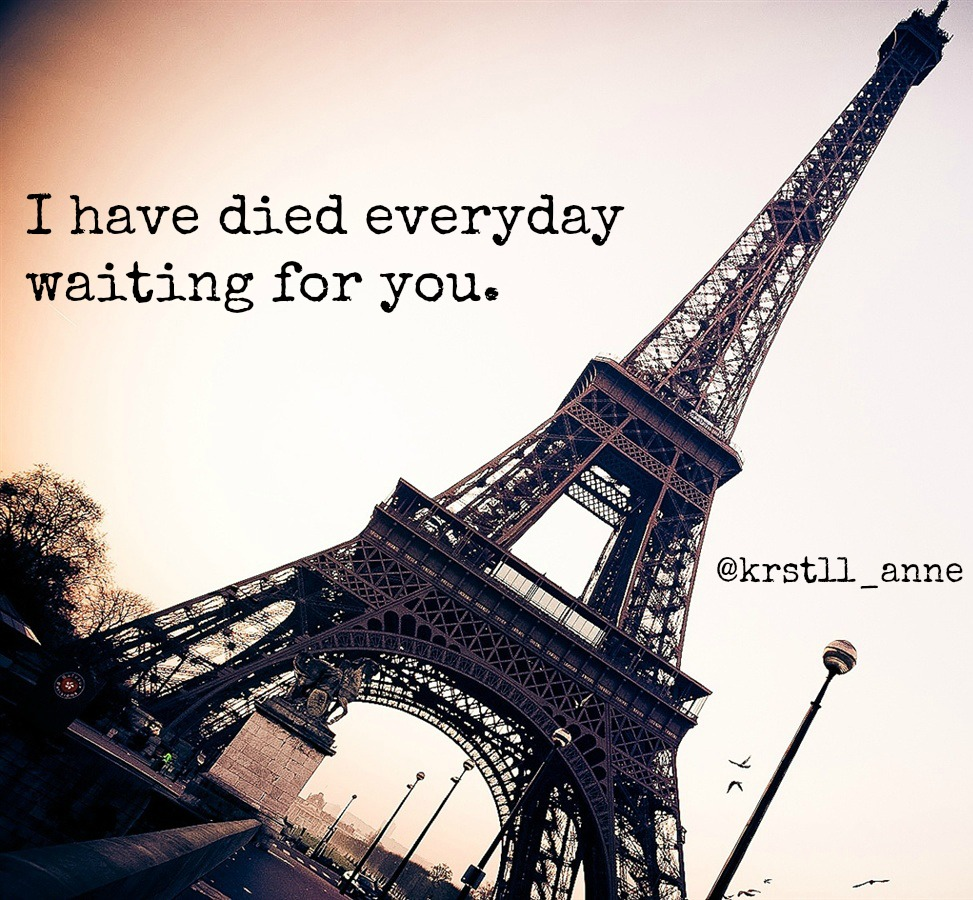 I have died everyday waiting for you christina perri lyrics