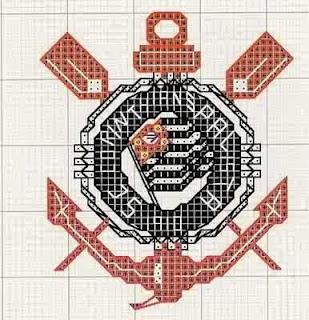 Gráfico para bordado do Corinthians