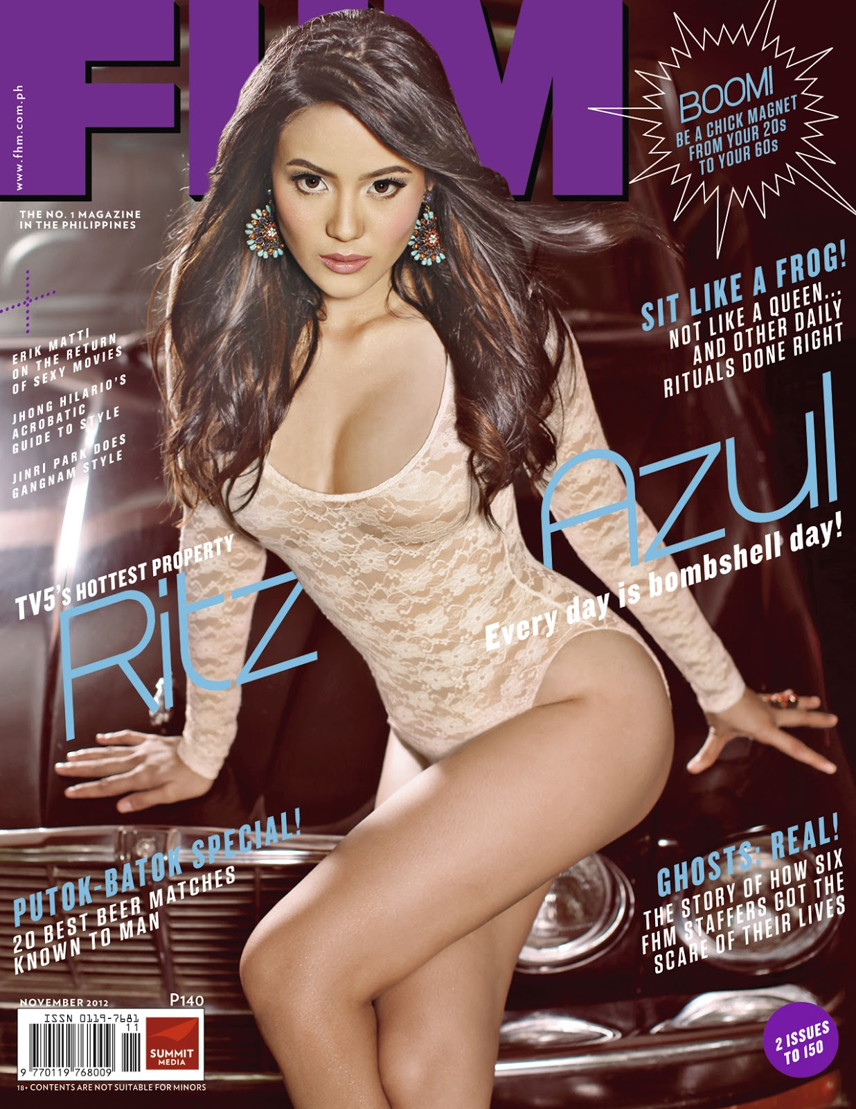 Ritz Azul sizzles as FHM Philippines' November cover girl | THE WEB ...