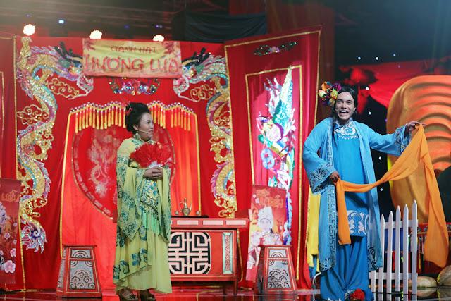 Lê Thị Thùy Trang bên trái cùng Bảo Lâm bên phải.