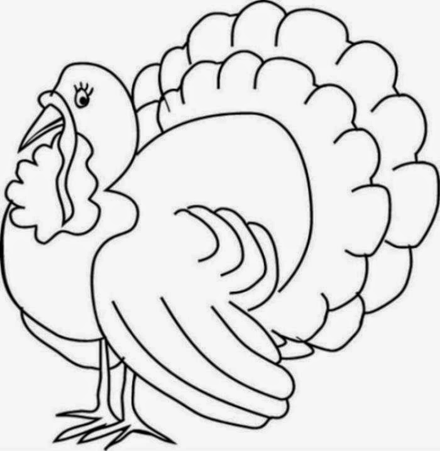 cartoon turkey coloring pages - photo#8