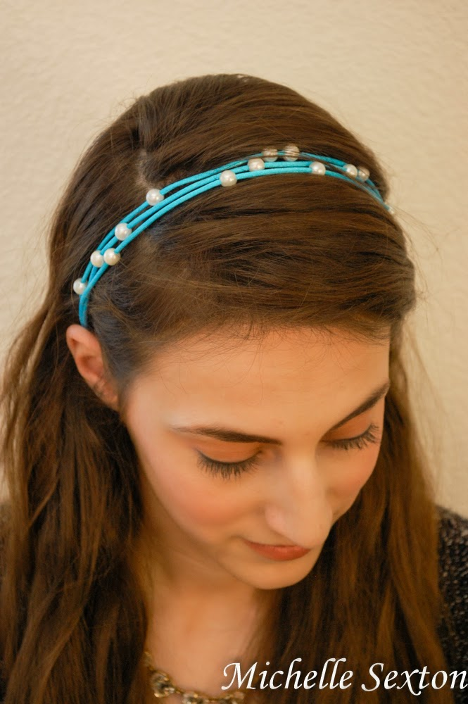 A quick and easy DIY. No-Sew headband only takes 15 minutes or less to make!