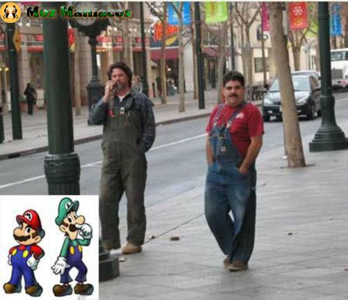 """Mario e Luigi da Série """"Super Mario"""""""