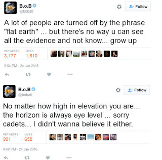 "Rapper B.o.B Just Released A Song To Back Up His Facts That Earth Is Flat: Welcome B.o.B -  ""Flatline"""