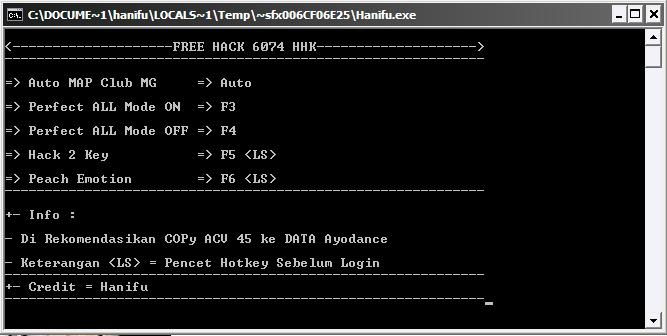 Cheat Ayodance PF ON OFF v6074 06 Desember 2011