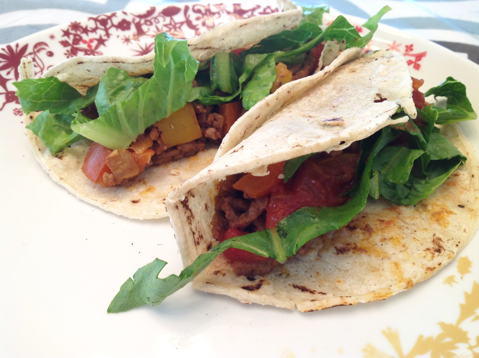 my back pages: lighter beef tacos