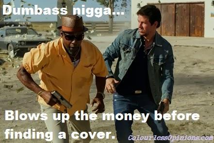 2 guns denzel washington & mark wahlberg blow up money movie still meme