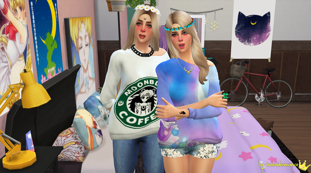 My Sims 4 Blog Sailor Moon Fangirl Set By Inabadromance