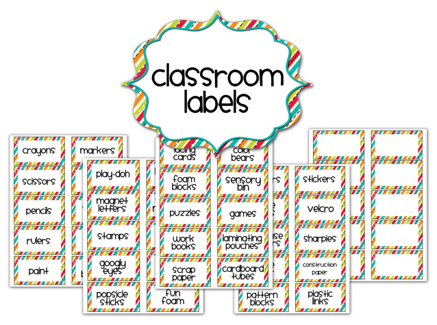 Classroom Labels - Preview