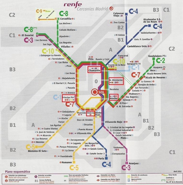 Metro de madrid m s de 100 im genes del mapa de metro for Oficinas de renfe en madrid