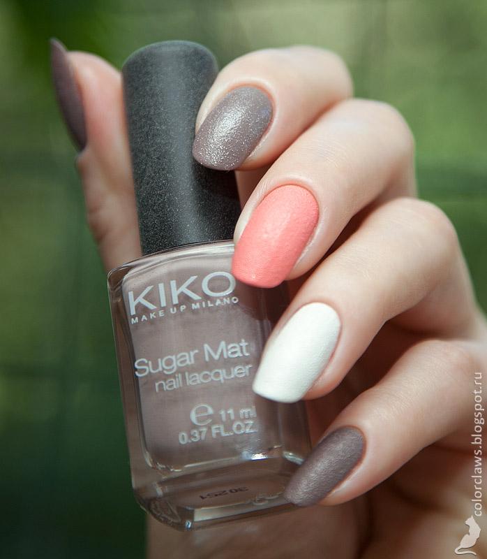 Kiko Sugar Matt #638 + Golden Rose Holiday #66 + Jessica White Hot
