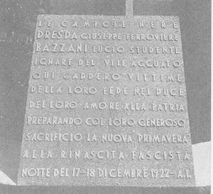 TORINO PARTICOLARE DEL MONUMENTO AI MARTIRI FASCISTI