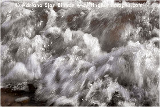 Waves at Findhorn beach