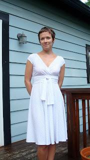 Black and White Knit Dress