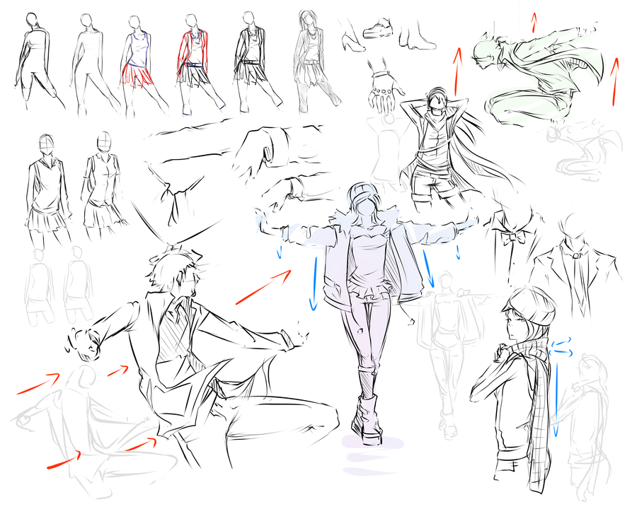 Como dibujar ropa anime de hombre - Imagui