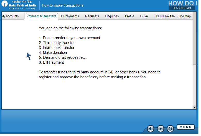 Online share trading at sbi