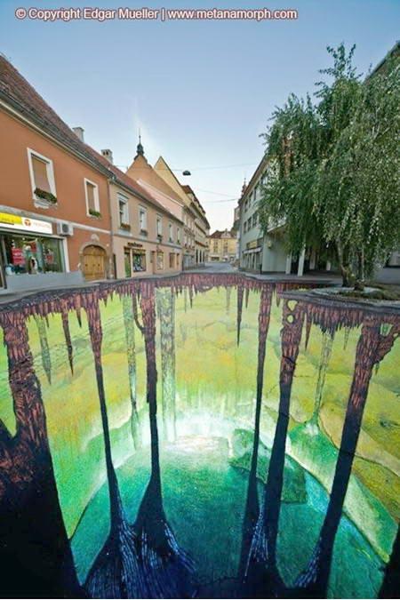 Ilusi Yang Tampak Nyata Pada Seni Lukis Jalanan 3 Dimensi