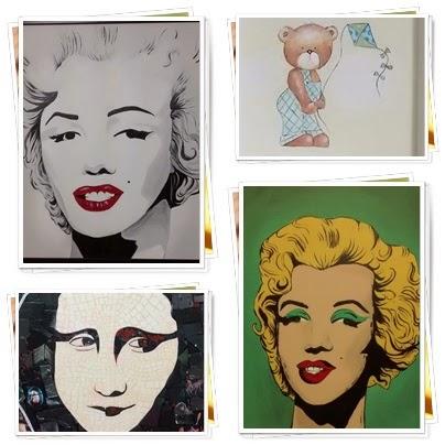 Aceita-se encomendas de pintura em tela - tinta acrílica e Mosaico com papéis no MDF