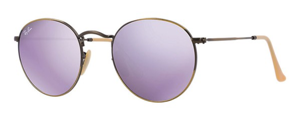 Ray-Ban Lilac mirrored sunglasses