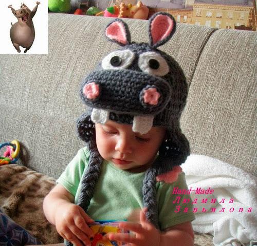 Вязание крючком детских оригинальных шапок