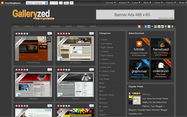 Galleryzed V1 Blogger Template