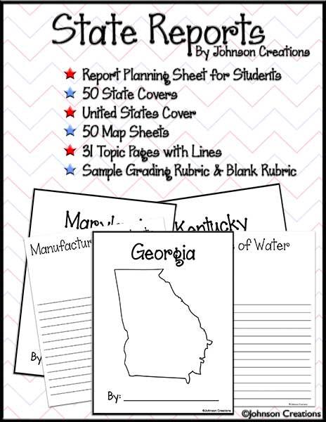 State Report Worksheet Worksheets For School - Kaessey