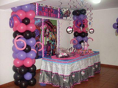 Fiestas Infantiles  Decoraci  N Monster High