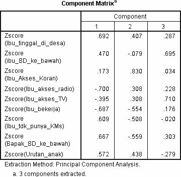 component matrix