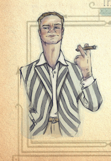 Tom Buchanan Illustration The Great Gatsby