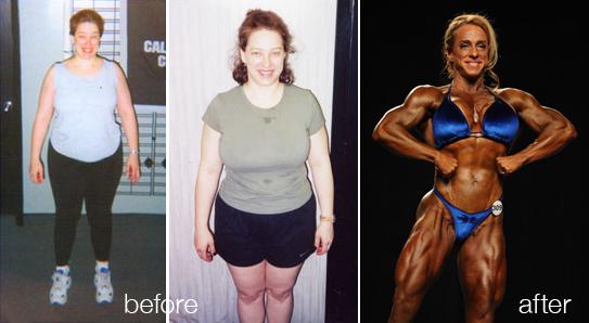 female bodybuilder transformation