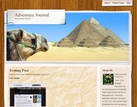 Adventure Journal Blogger Theme