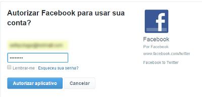 Como vincular o Facebook ao Twitter