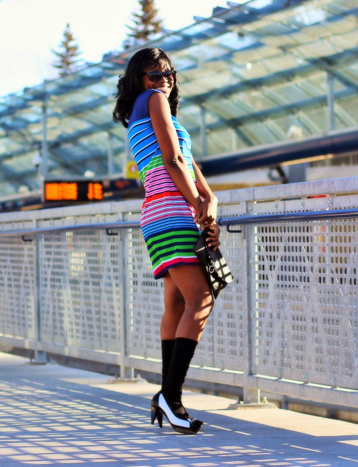 Perfect striped shift dress