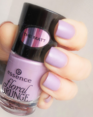 Madly purpled essence floral grunge swatch