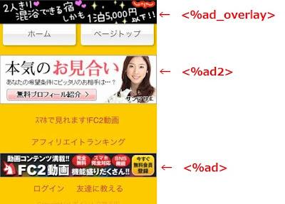 FC2ブログのスマートフォン広告