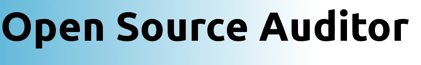 Open Source Auditor