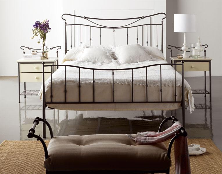 Muebles de forja camas de forja en dise o actual for Cama de forja blanca