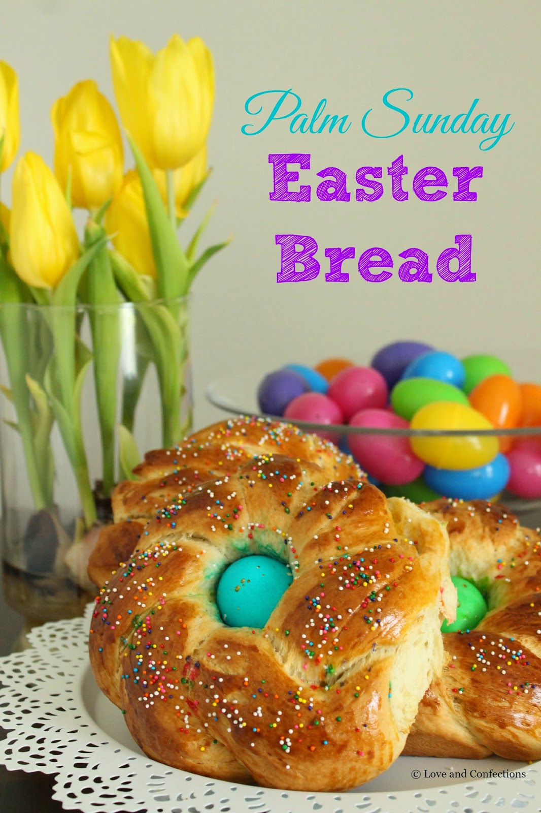 Palm Sunday Easter Bread - Pane di Pasqua - from LoveandConfections.com